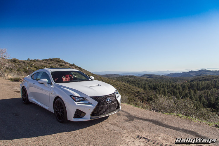 Lexus RC-F in the Mountains