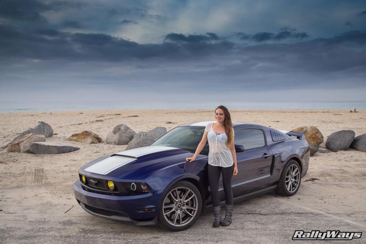 Dani Devor and her Mustang.