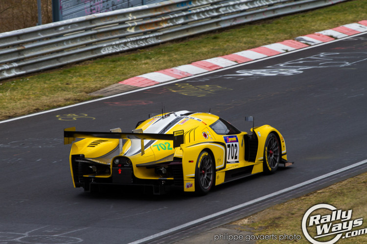 Yellow SCG003 at the Nürburgring