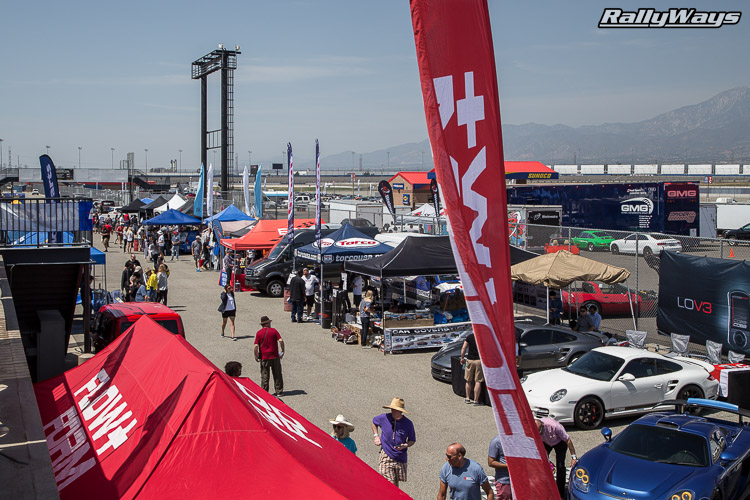 The vendor's area at California Festival of Speed.