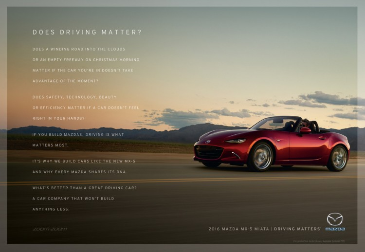 Mazda Driving Matters Manifesto