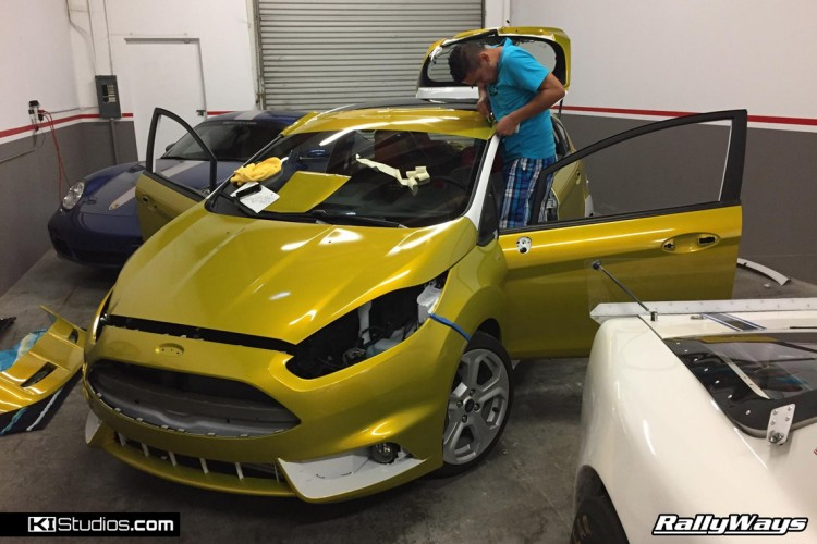 RallyWays Fiesta ST Car Wrap Job in Progress