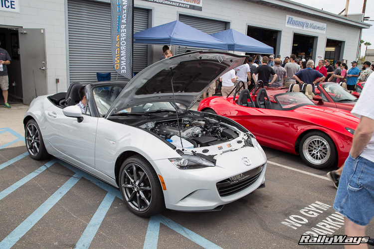 ND Miata Launch Party On the Lift - RallyWays