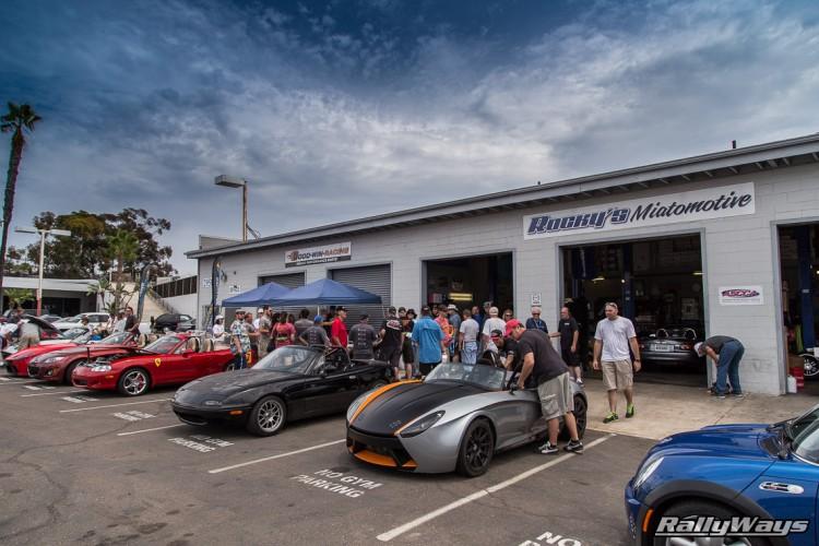 Goodwin Racing & Rocky's Miatomotive Shop in San Diego.