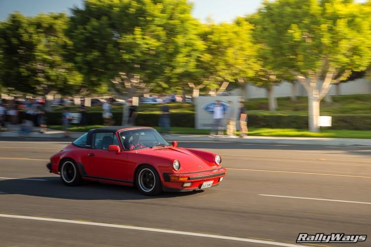 Red 911 Targa