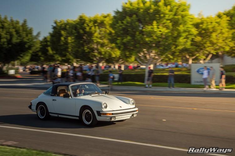 White Porsche 911 Targa - Cars and Coffee