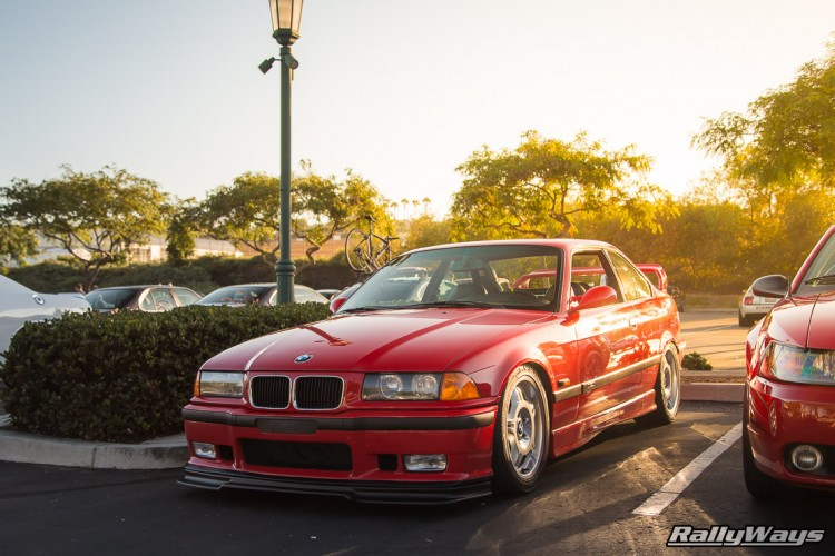 Red BMW E36 M3 Cult Classic