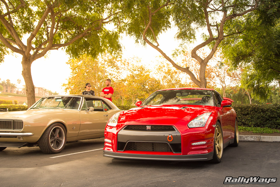 Nissan GT-R with Gold Wheels