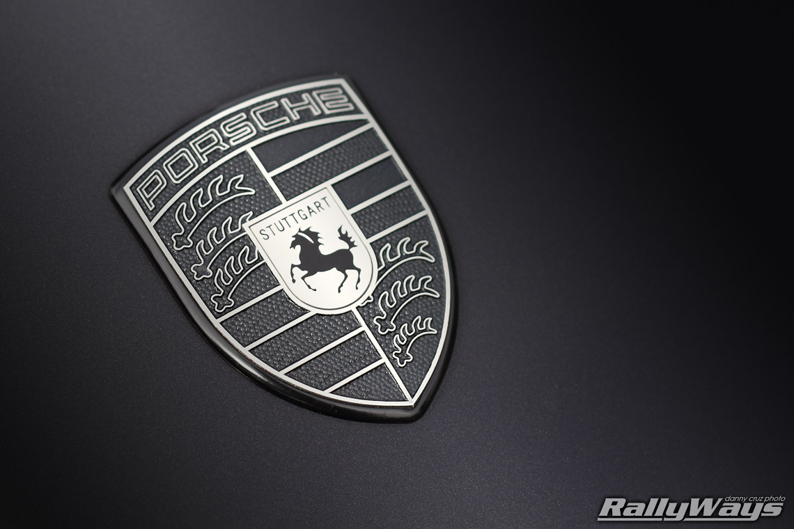 Monochromatic Porsche Emblem Close Up