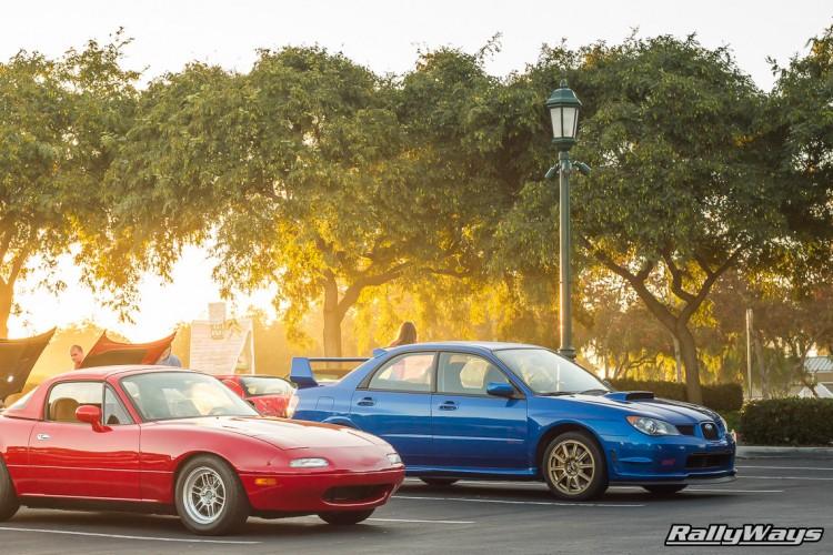 WRX Blue Subaru WRX STI with Gold Wheels