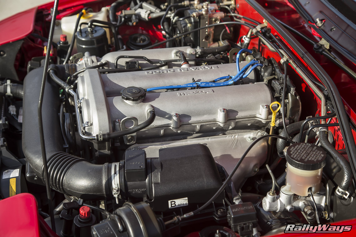 Clean Miata Engine Bay - RallyWays Miata