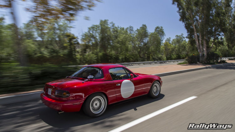 Rolling Shot with a Mazda MX-5 Miata - Shot by Danny Cruz of RallyWays