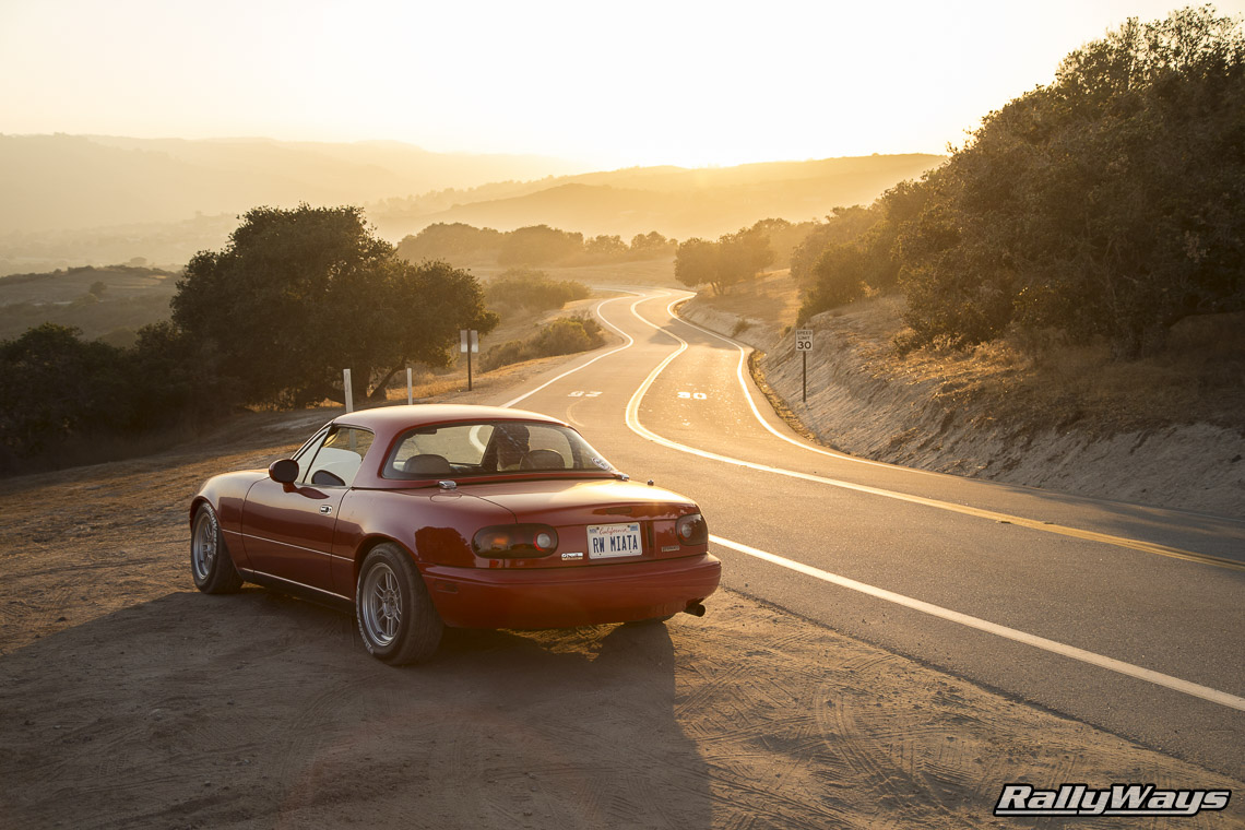 Sunset with a Miata at MRLS