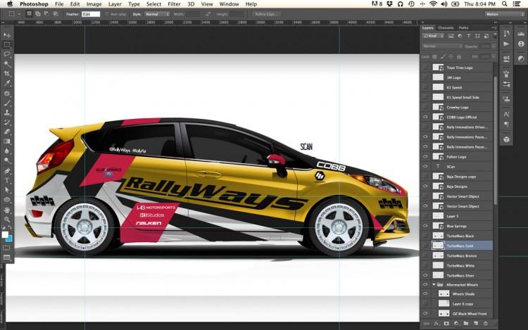 RallyFist RallyWays Fiesta ST Final Photoshop Design Mockup