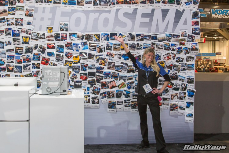 Ford SEMA Wall of Fame 2015 with Brittney Kulma