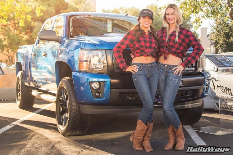SEMA Show Cow Girls 2015
