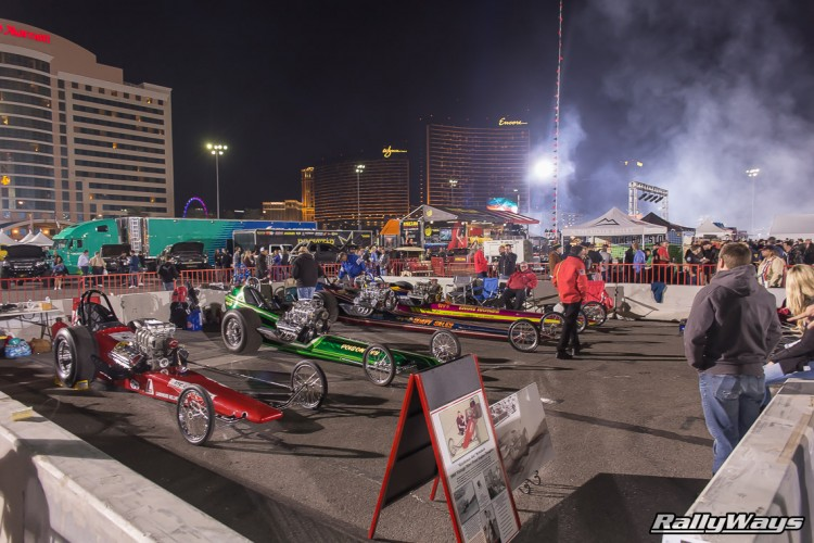 Dragsters at SEMA Ignited 2015