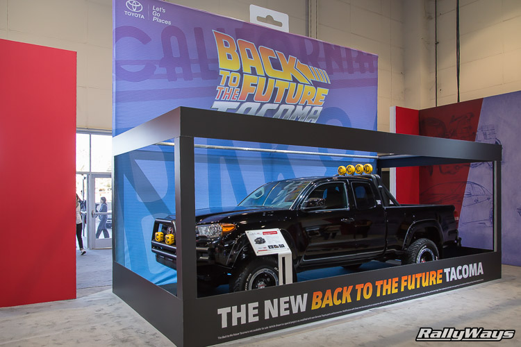 Back to the Future Tacoma Toyota Booth SEMA 2015