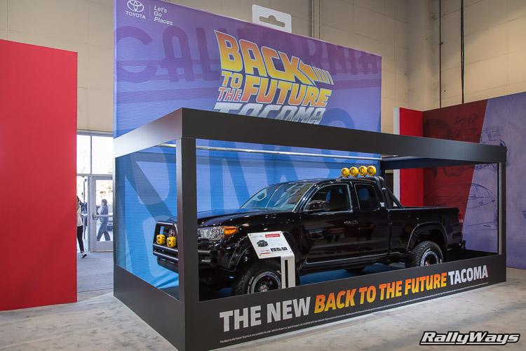 Back to the Future Tacoma Toyota Booth SEMA 2015