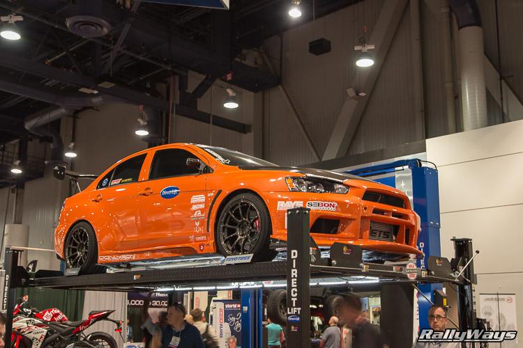 Orange EVO X Modded SEMA 2015