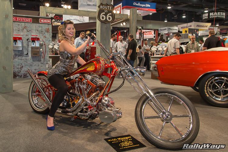 Emily Quinn (SnowDonuts) on a Chopper Bike