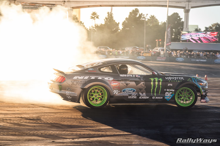Vaughn Gittin Jr Laying Down Tire Tread
