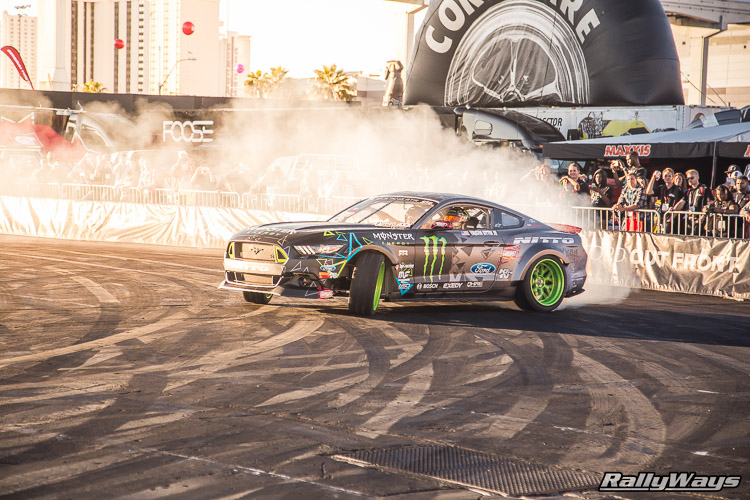 Ford SEMA Mustang Drifting Demo Sequence 7 of 12