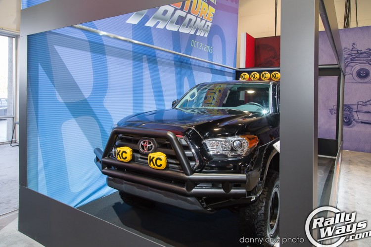 Close Look at the Back to the Future Toyota Tacoma
