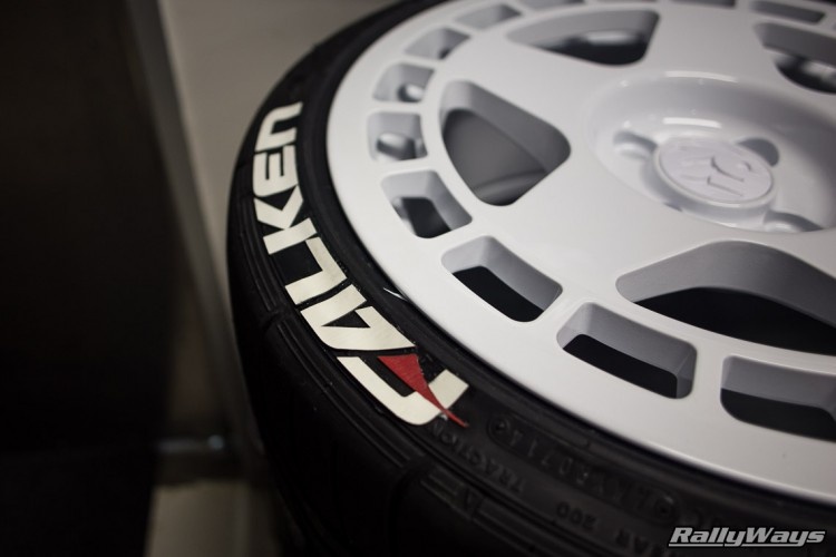 Busy applying the Falken Tire decals by Tire Stickers