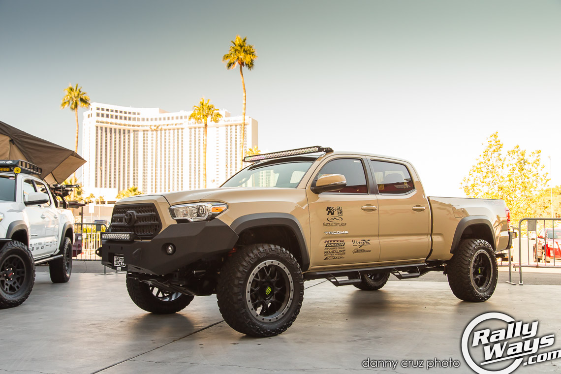 SEMA Featured 2016 Tacoma - Toyota Booth Outside
