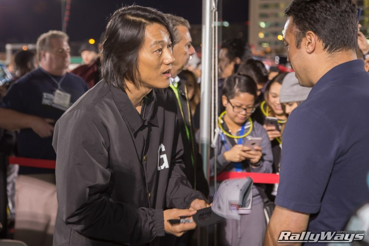 Sung Kang signing autographs at SEMA Ignited 2015