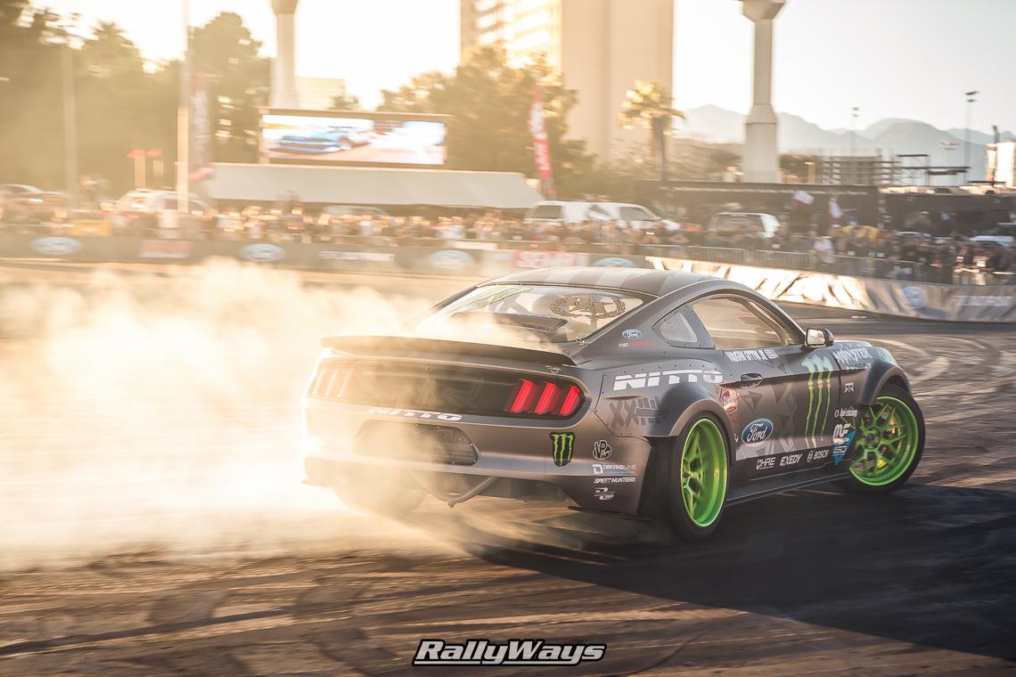 Vaughn Gittin Jr Mustang Drift Demo SEMA 2015