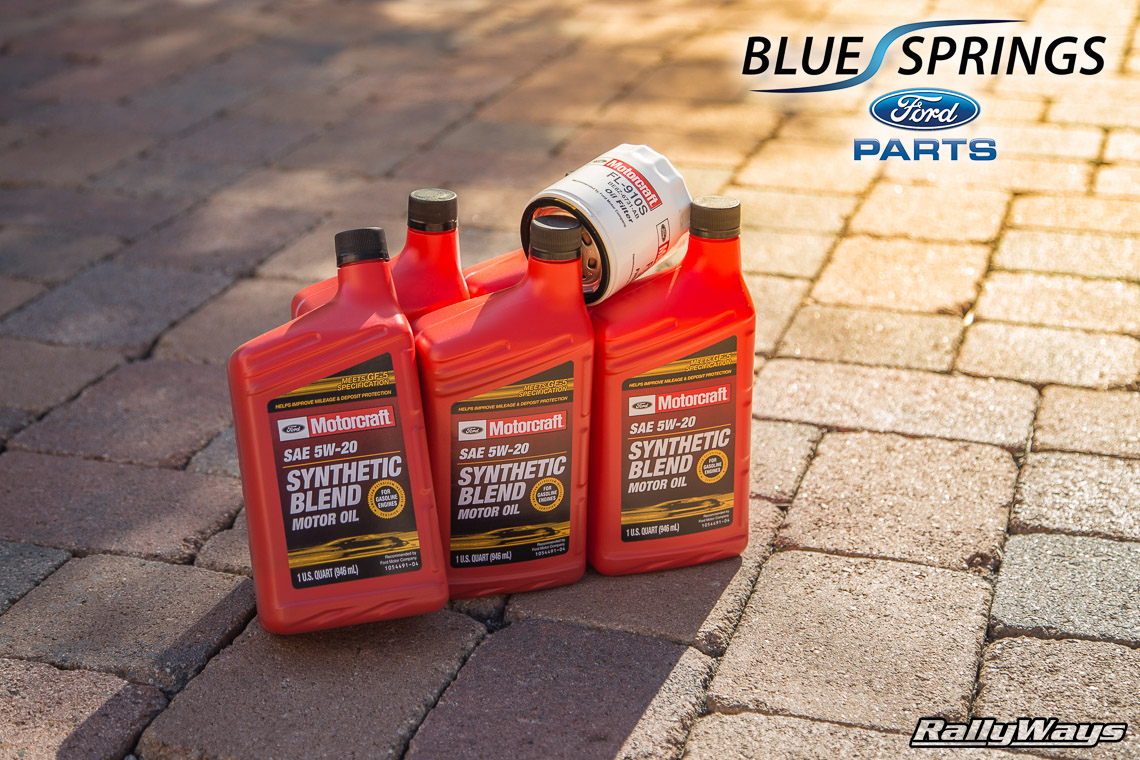 Oem ford parts for our fiesta st rallyfist rallyways for Why use synthetic blend motor oil