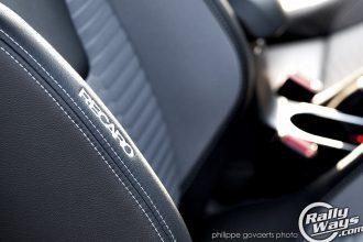 Stitched Fiesta ST Recaro Seat Logo