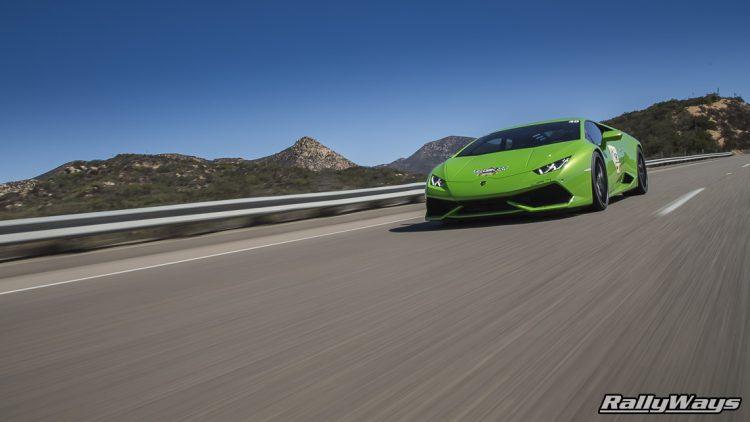 Lamborghini Huracan Verde Mantis Rolling Shot Road Rally