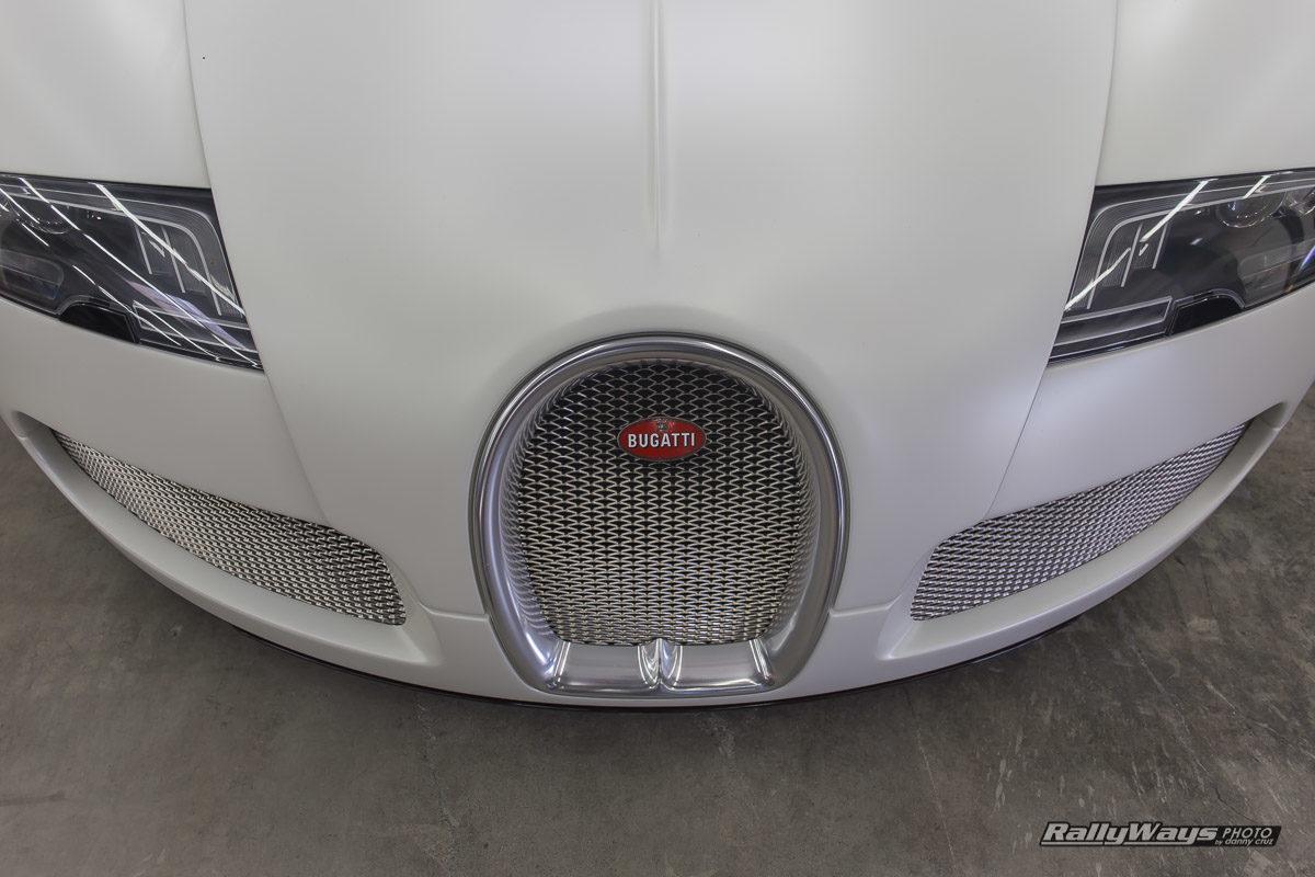 Matte White Bugatti Veyron PFS Open House